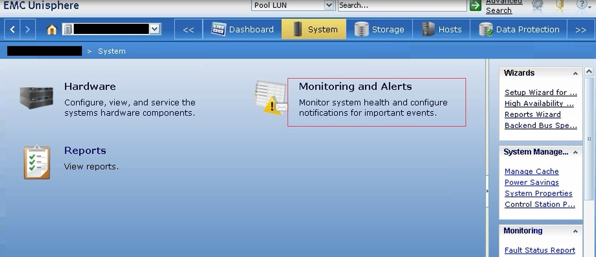 Configuring storage projection notification for VNX file systems