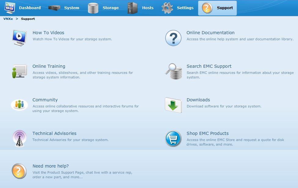 VNXe3200-support